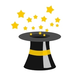 Magician hat icon flat style vector image vector image