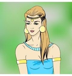 portrait of an elven princess vector image vector image