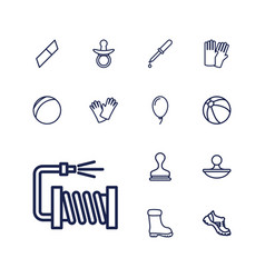 13 rubber icons vector