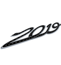 2019 new year the road is stylized in the form of vector image