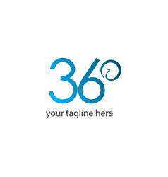 360 logo template design vector image
