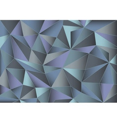 Abstract gray triangles 3d background vector image
