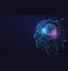 Ai artificial intelligence digital brain vector
