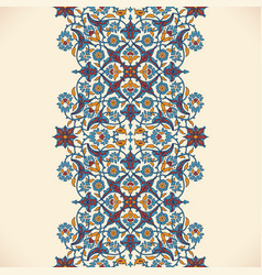 Arabesque vintage seamless border elegant floral vector
