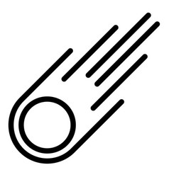 Asteroid rock icon outline style vector