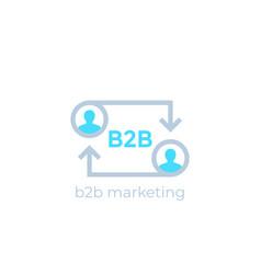 B2b marketing icon business concept vector