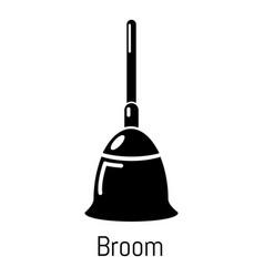broom icon simple black style vector image