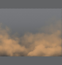 brown dust sand or dirt clouds realistic vector image