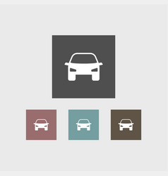 car icon simple vector image