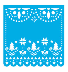 christmas papel picado design template vector image