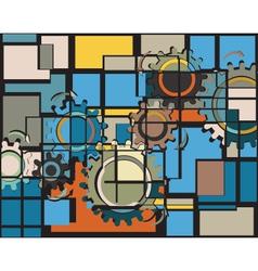 Cogs mosaic vector