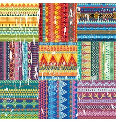 Color seamless tribal texture vector image