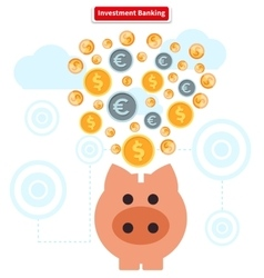 Concept of investment banking collect finance vector