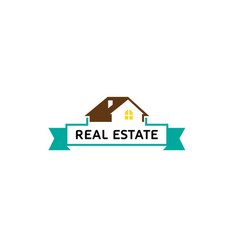 creative house roof real estate logo vector image