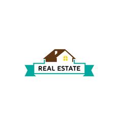 Creative house roof real estate logo vector