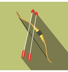 Cupid bow and arrows icon vector