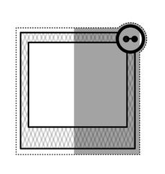 Cute frame decoration vector