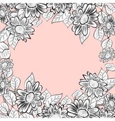 Daisy flowers frame vector