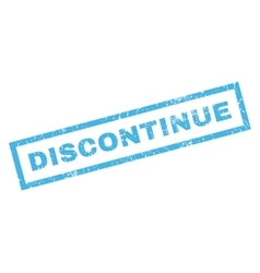 Discontinue Rubber Stamp vector