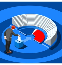 Election Infographic Parliament Vote Isometric vector image
