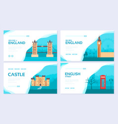 england country ornament travel tour concept vector image