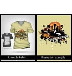 example on T-shirt vector image