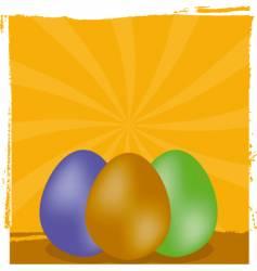 Grunge Easter background vector