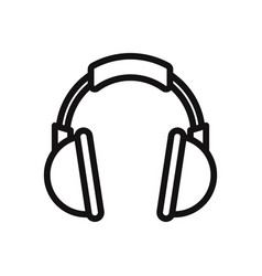 headphone icon headset music audio dj symbol vector image