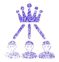 hierarchy men icon grunge watermark vector image