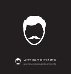Isolated goatee icon stylish beard element vector
