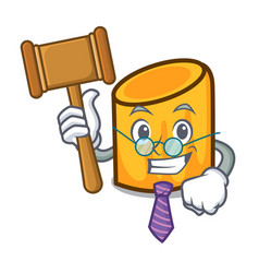 judge rigatoni mascot cartoon style vector image