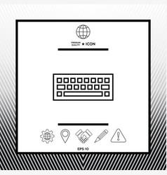 keyboard symbol icon vector image