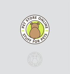 logo pet store dog food vet circle vector image