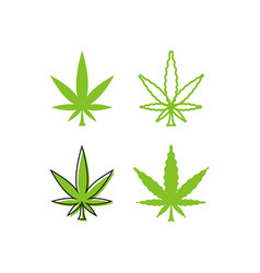 Marijuana leaf logo template vector