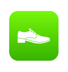 men shoe icon digital green vector image