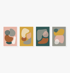 Modern templates set with abstract shapes vector