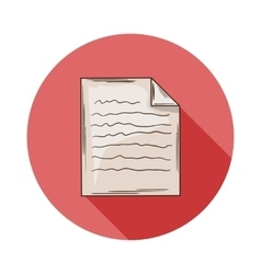 Notebook Sheet icon vector image