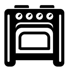 old oven icon simple style vector image
