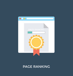 Page ranking vector