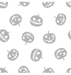 pattern of pumpkins haloween pattern grey vector image