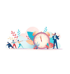 people are trying to regain time deadline vector image