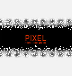 pixel mosaic background vector image