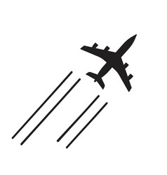 plane flying icon shape or airplane jet vector image