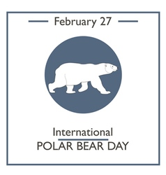 Polar Bear Day vector