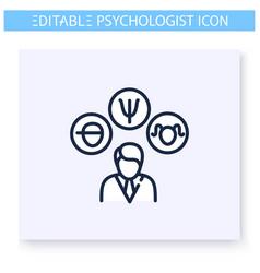 Psychological problem line icon editable vector