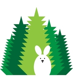 Rabbit flat icon vector