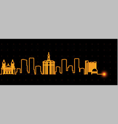 san jose light streak skyline vector image