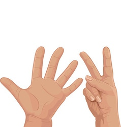 Seven from fingers vector