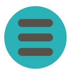 Stack flat grey and cyan colors round button vector