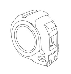 Tape measure construction or carpentry tool vector
